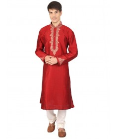 Red Silk Kurta Churidar
