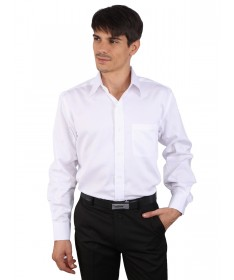 JAPs White Cotton Formal Shirt