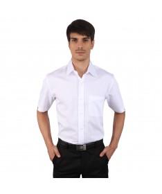 JAPs White Cotton Half Sleeve Formal Shirt