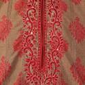 Red Brocade Silk Kurta Churidar