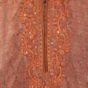 Brown Brocade Silk Kurta Churidar